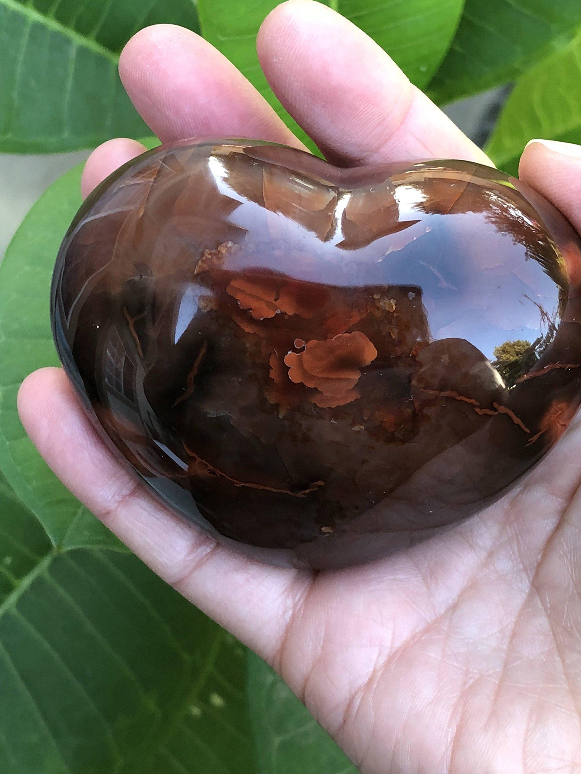 Carnelian Heart - Crystal Grid - Carnelian Palm Stone - Massage Stone - Carnelian Crystal - Sacral Charka - Meditation Space