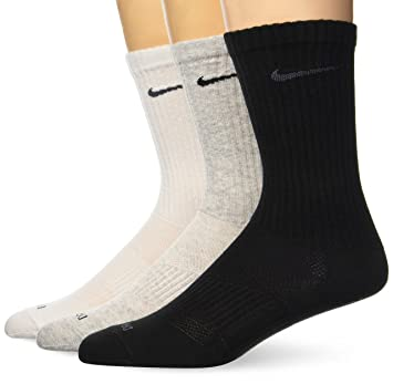 Nike Dri Fit Crew 3er Pack Socken - Calcetines unisex adulto 3x1 paquete, Gris /