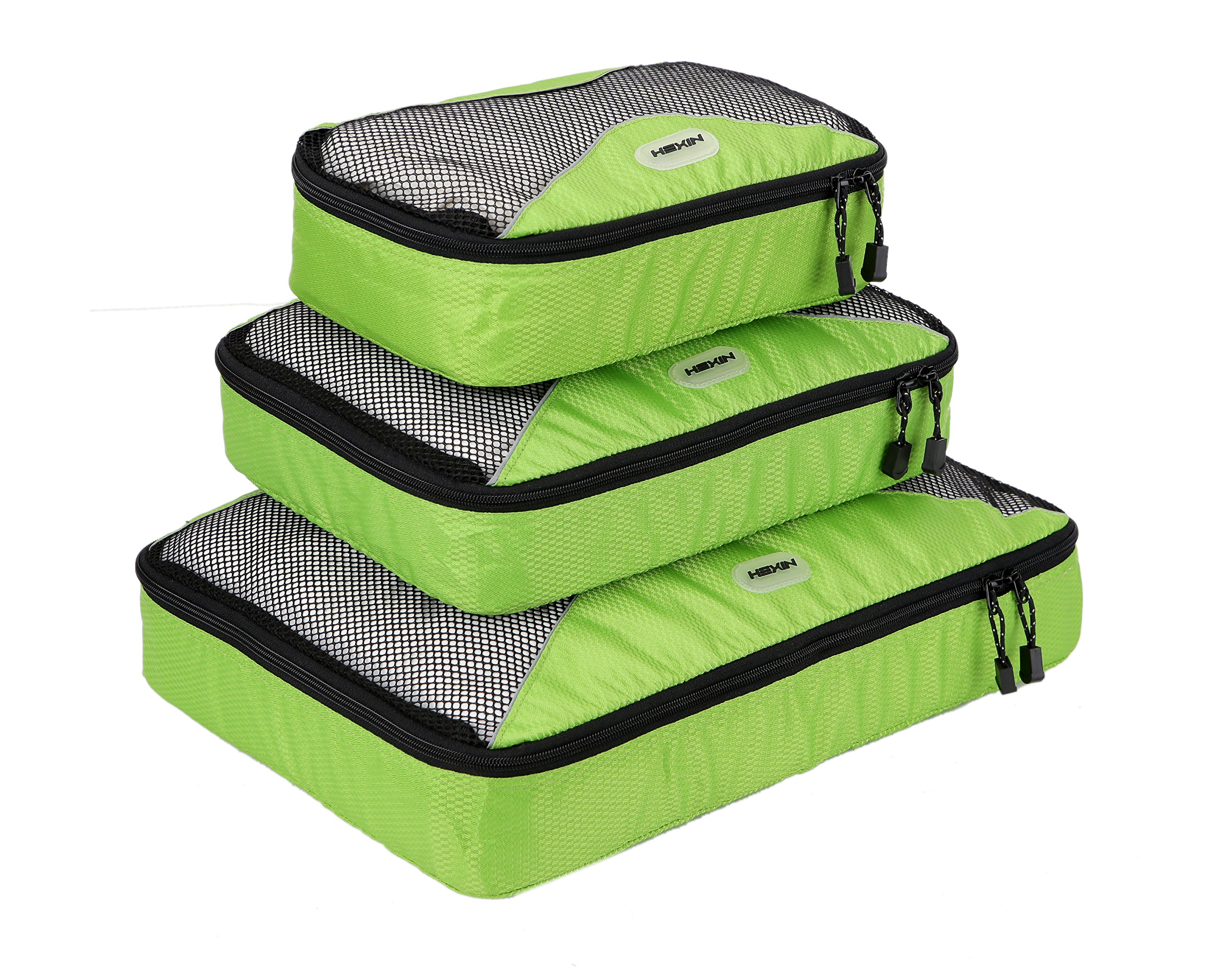 HEXIN Unisex 3pcs Travel Organizers Packing Cubes Organizers