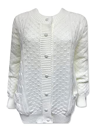 e0226032d Kirkwood Of Scotland® New Womens Ladies Long Sleeve Button Up Chunky ...