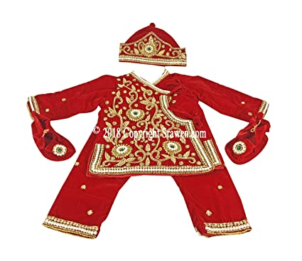 afbd011609d0 Image Unavailable. Image not available for. Color: Pasni Dress/Set Nepali Weaning  Dress/Rice Feeding Ceremony Baby Girl or Boy Dress