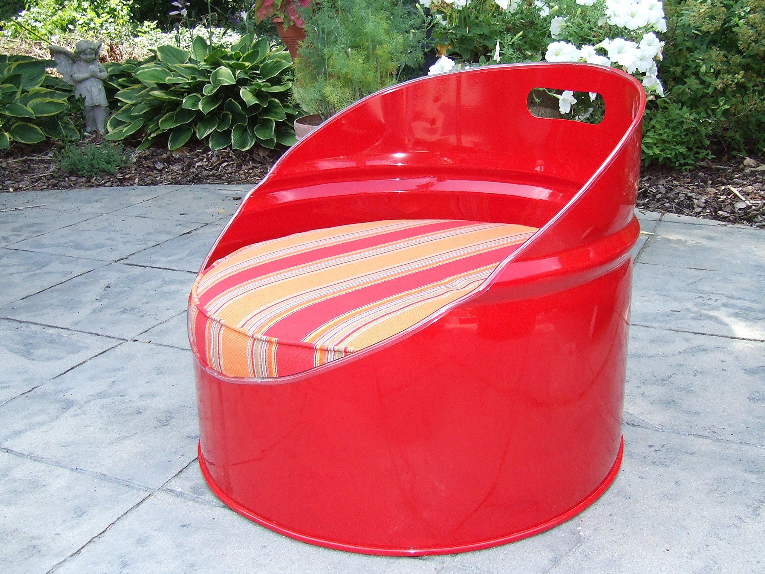 Drum Works Furniture 7010 Bravada Salsa on Red Kids Chair/Gaming Chair
