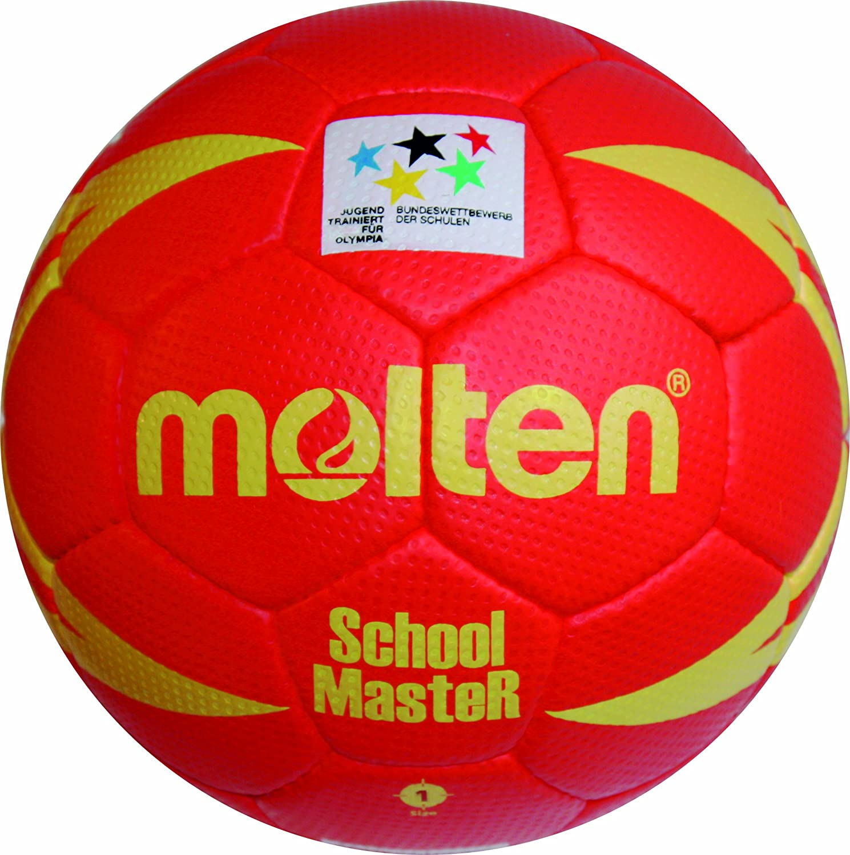 TALLA 1. MOLTEN Handball - Pelota de Balonmano (Cuero, para jóvenes)