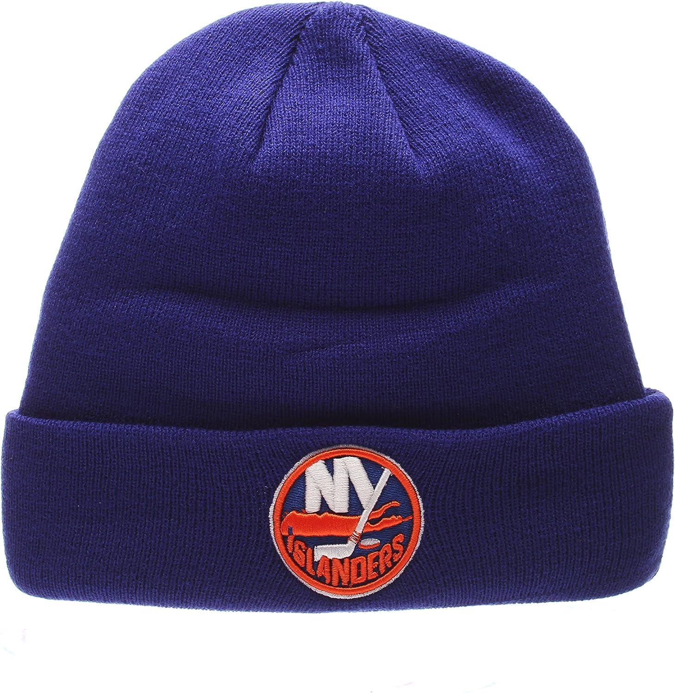 ZHATS New York Islanders Royal POP Cuff Beanie Hat - NHL Cuffed Winter Knit Toque Cap