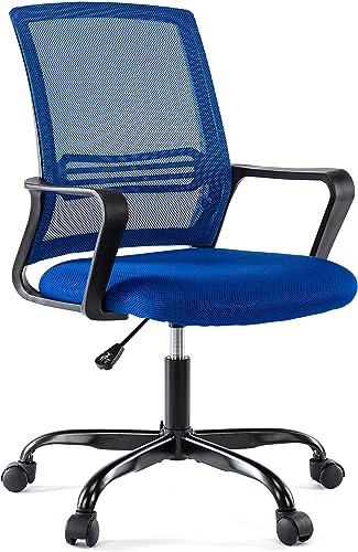 BHUTAN Home Office Chair Height Adjustable Upholstered Mesh Swivel Computer Office Ergonomic Desk Chair