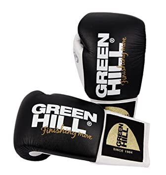 aaa1bde43 Green Hill Dove Professional Boxing Gloves Leather Selection of Colours oz  Selection black Size