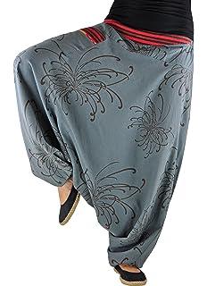 9a2514814b69 virblatt UNISEX pantaloni alla turca in stile harem con fantasia e  tessitura tradizionale. Taglia unica
