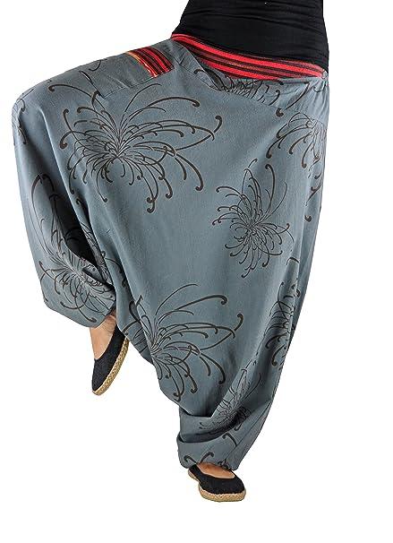 Pantalones bombachos virblatt hombre y mujer con estampados y tejidos tradicionales talla única S - L ropa hippie - Traumtänzer