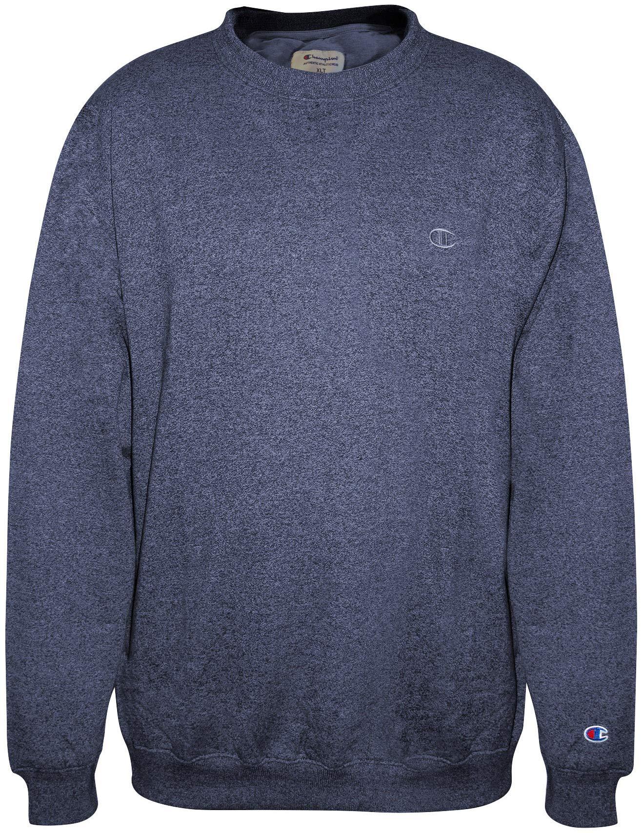 Champion Men Big-Tall Fleece Crew Sweatshirt, Navy