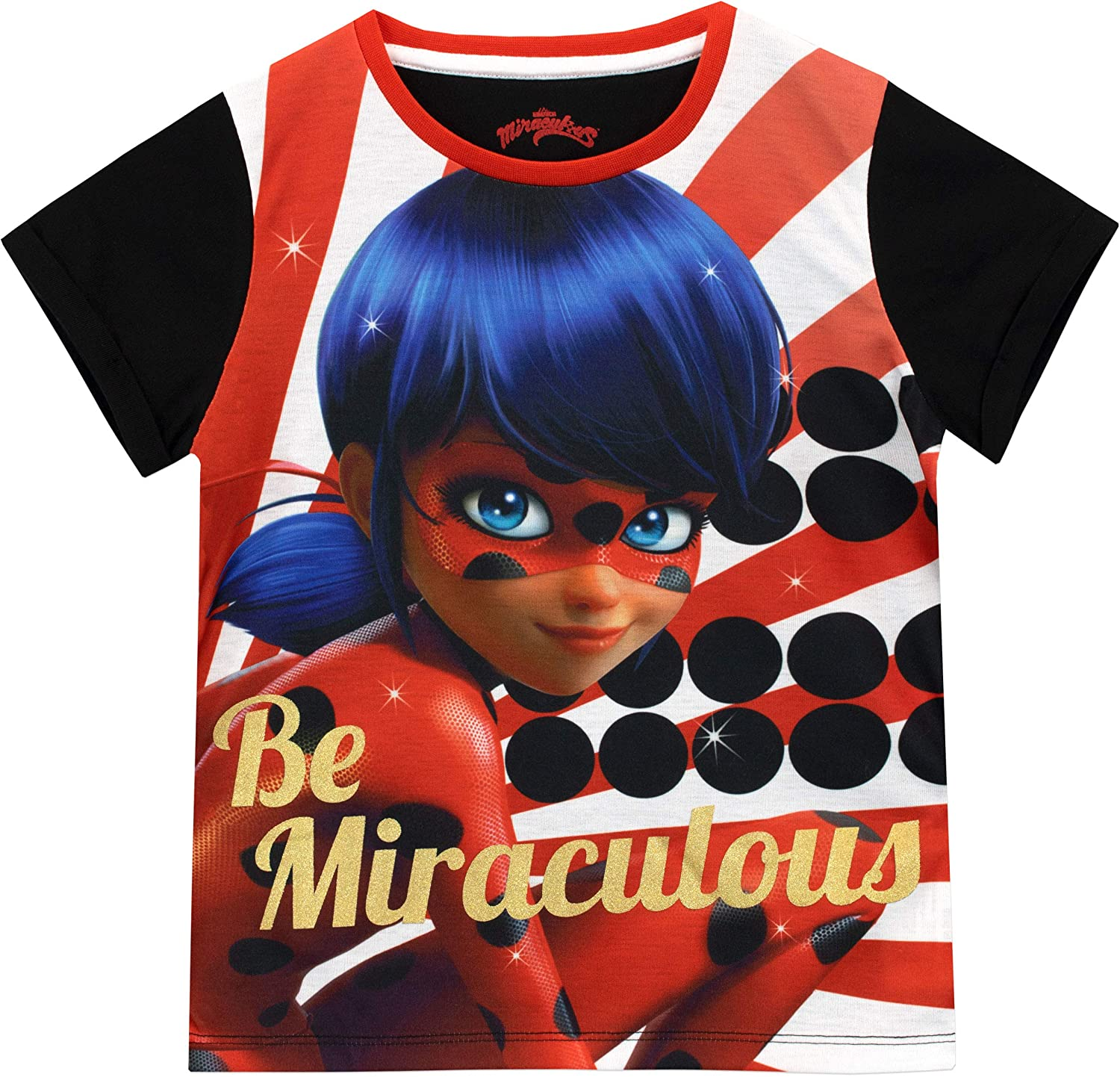 Miraculous Ladybug Girls Lady Bug T-Shirt