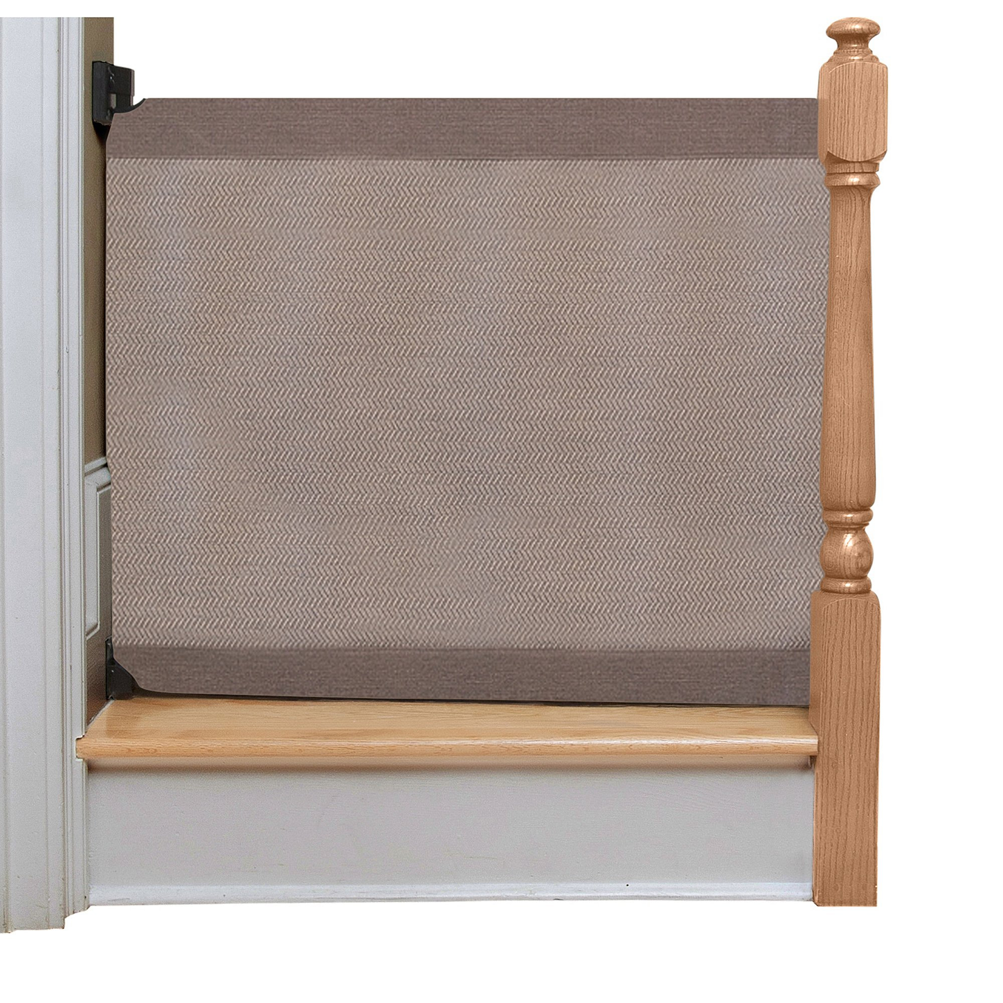 The Stair Barrier - Wall-to-Bannister Signature Baby/Pet Gate - 36-43W x 32''H - Modern Grey