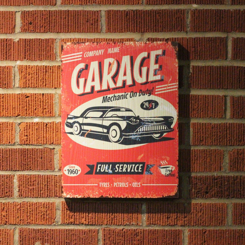 Vintage Parts 323948 Retro Garage Wooden Sign