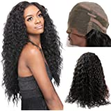Dreambeauty 360 Lace Frontal Wigs 180% High Density Water Wave Brazilian Virgin Hair 360 Lace Front Human Hair Wigs Pre Plucked 360 Lace Wig with Baby Hair for Black Women 24 inch
