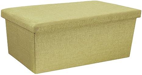 Pouf portaoggetti contenitore pieghevole poggiapiedi tavolino