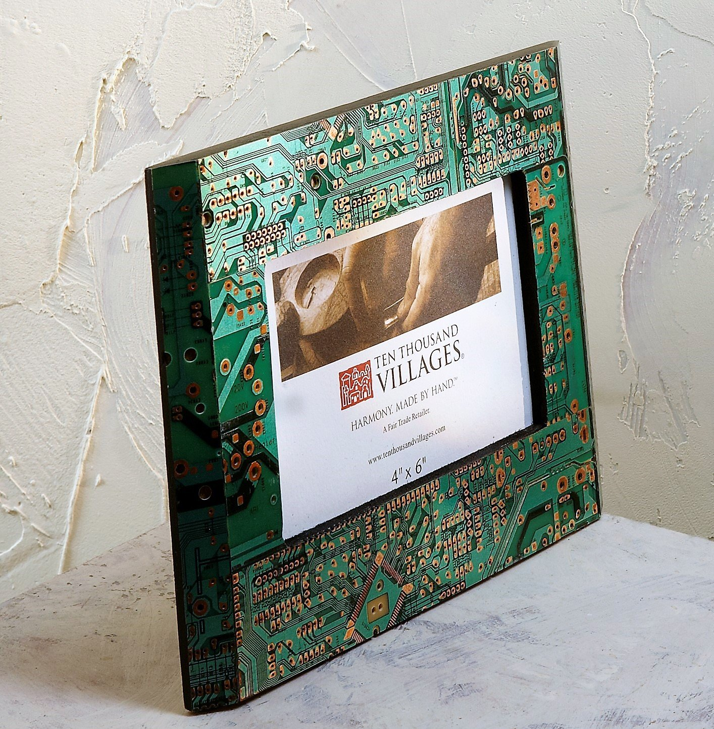 Ten Thousand Villages Repurposed Computer Parts Picture Using Circuit Boards The Designer Created Two Chic Board Frame For 4x6 Photo