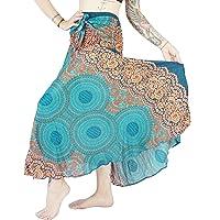 Boho Vib Women's Long Bohemian Summer Skirt Dress with Inner Lining