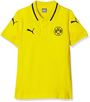 Puma Polo BVB Casuals Sponsor S Cyber Yellow, Black