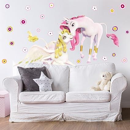 Amazon Com Wall Decal Mia And Me Unicorns Onchao And Lyria