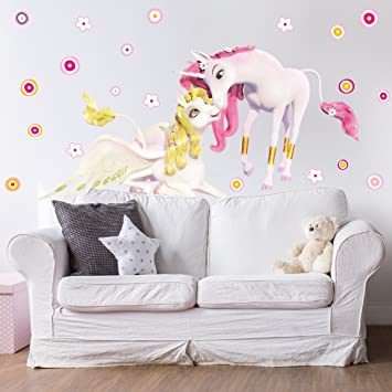 Beautiful Wall Decal Mia And Me   Unicorns Onchao And Lyria Nursery Girl Unicorns Wall  Tattoo Wall