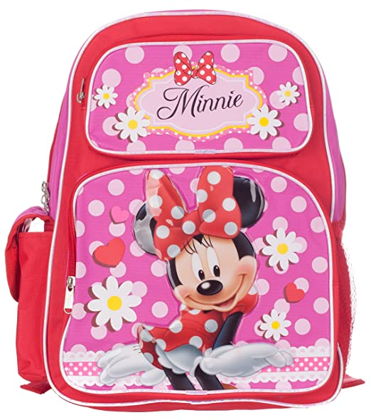 112985c01ae Image Unavailable. Image not available for. Color  Disney Minnie Mouse  Girl s Red Pink Backpack School ...