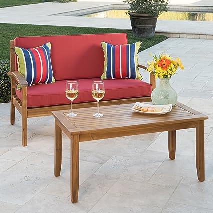 Pleasing Amazon Com Keanu Outdoor Teak Finished Acacia Wood Evergreenethics Interior Chair Design Evergreenethicsorg