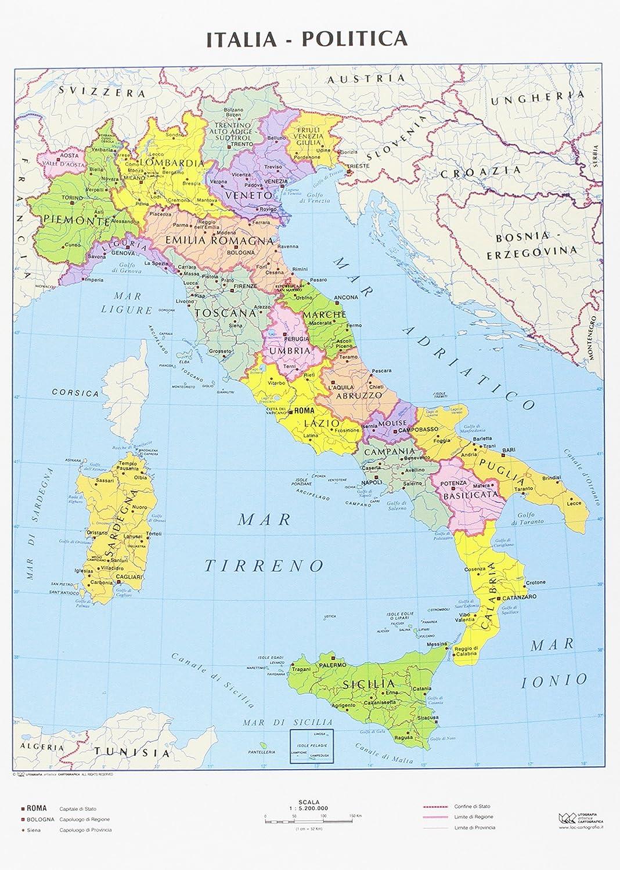 Cartina Fisica Dell Italia Centrale.Cwr Cartina Geografica Italia Fisica E Politica Formato A4 Confezione Da 10 Amazon It Cancelleria E Prodotti Per Ufficio
