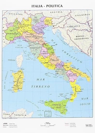 Immagini Cartina Italiana.Cwr Cartina Geografica Italia Fisica E Politica Formato A4 Confezione Da 10 Amazon It Cancelleria E Prodotti Per Ufficio