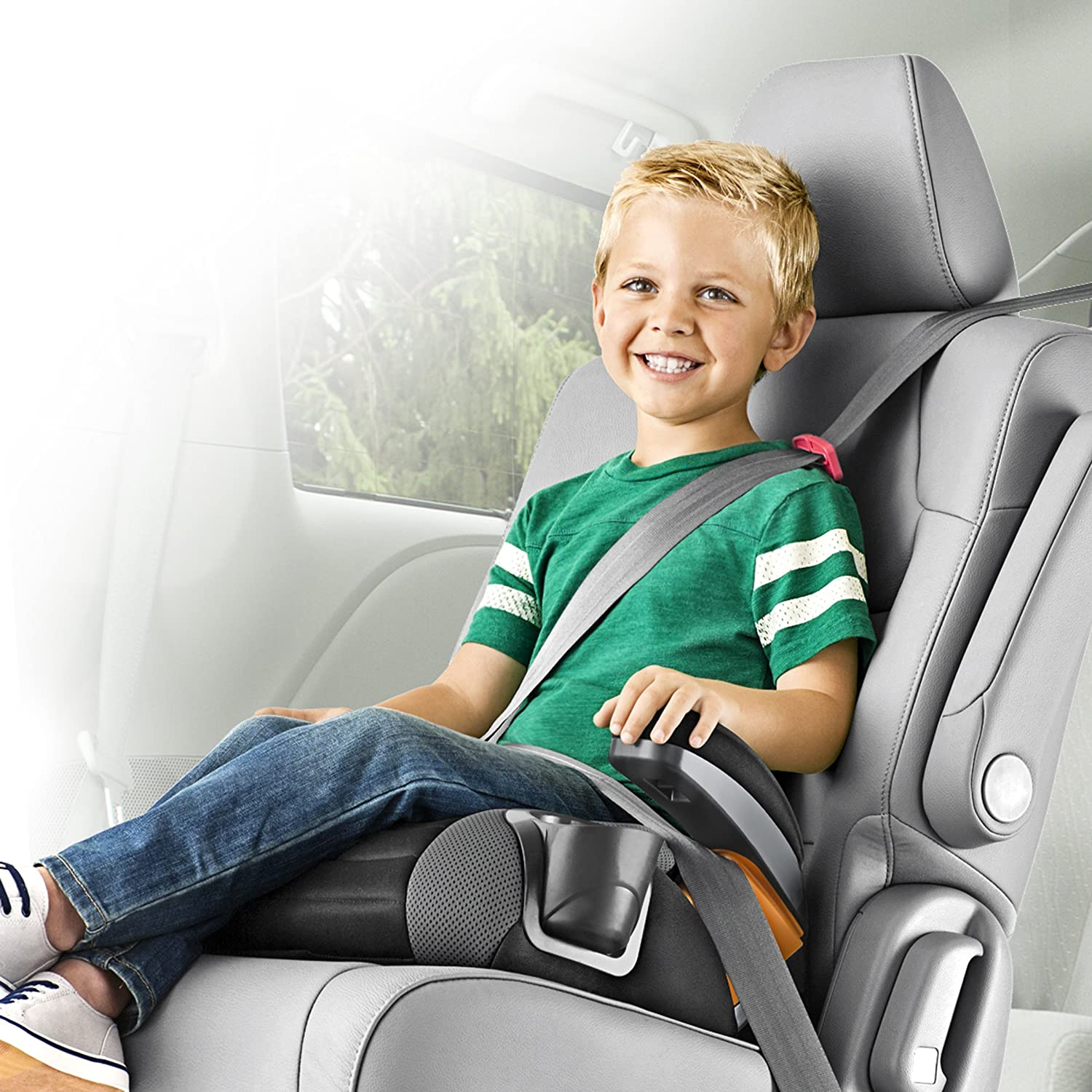 Chicco GoFit Backless Booster Car Seat Shark