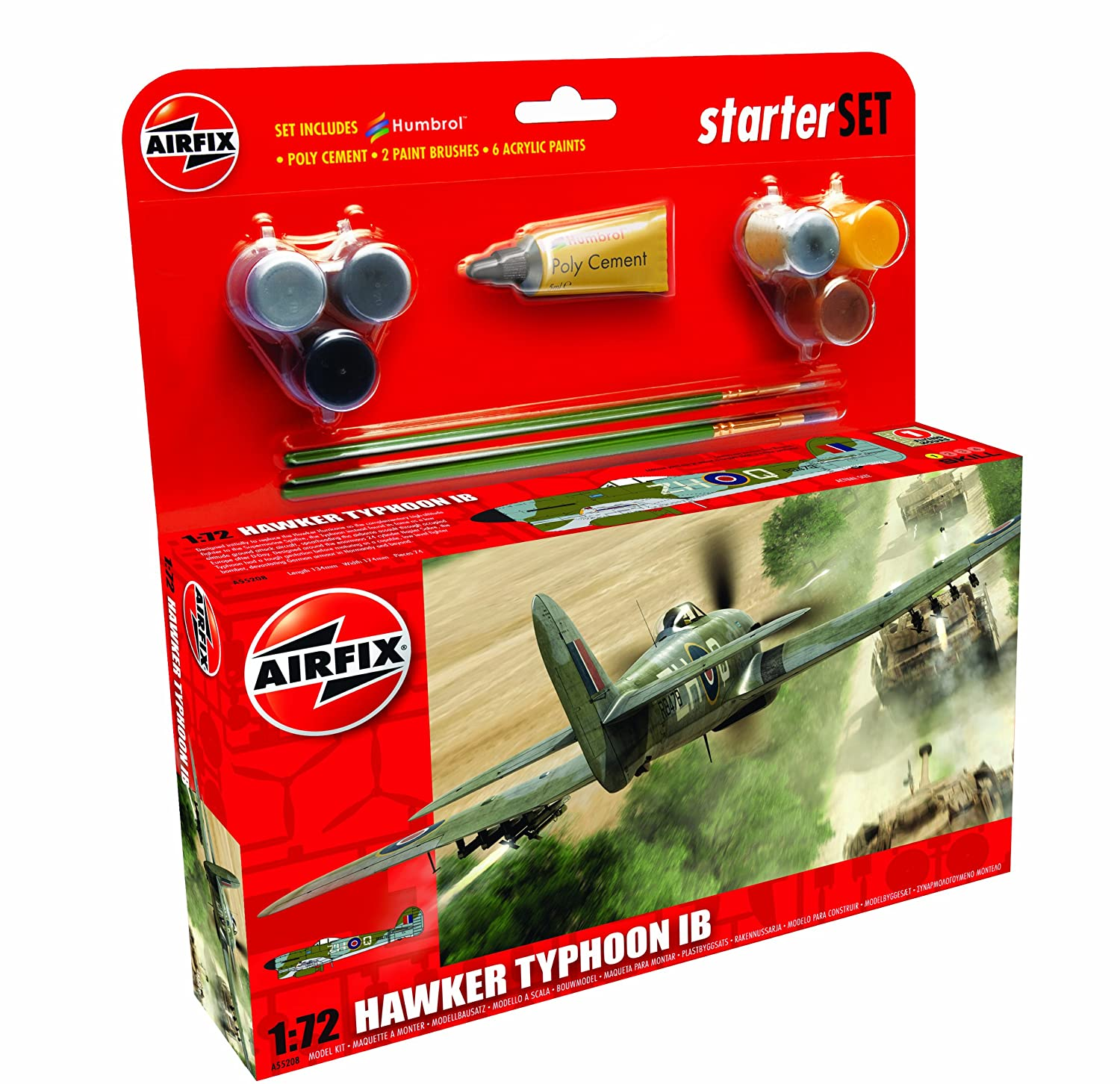 Amazon.com: Airfix Hawker Typhoon IB Starter Building Kit, 1 ...