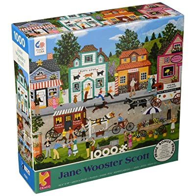 Ceaco 3346-16 Jane Wooster Scott Happy Go Lucky Puzzle - 1000Piece: Toys & Games