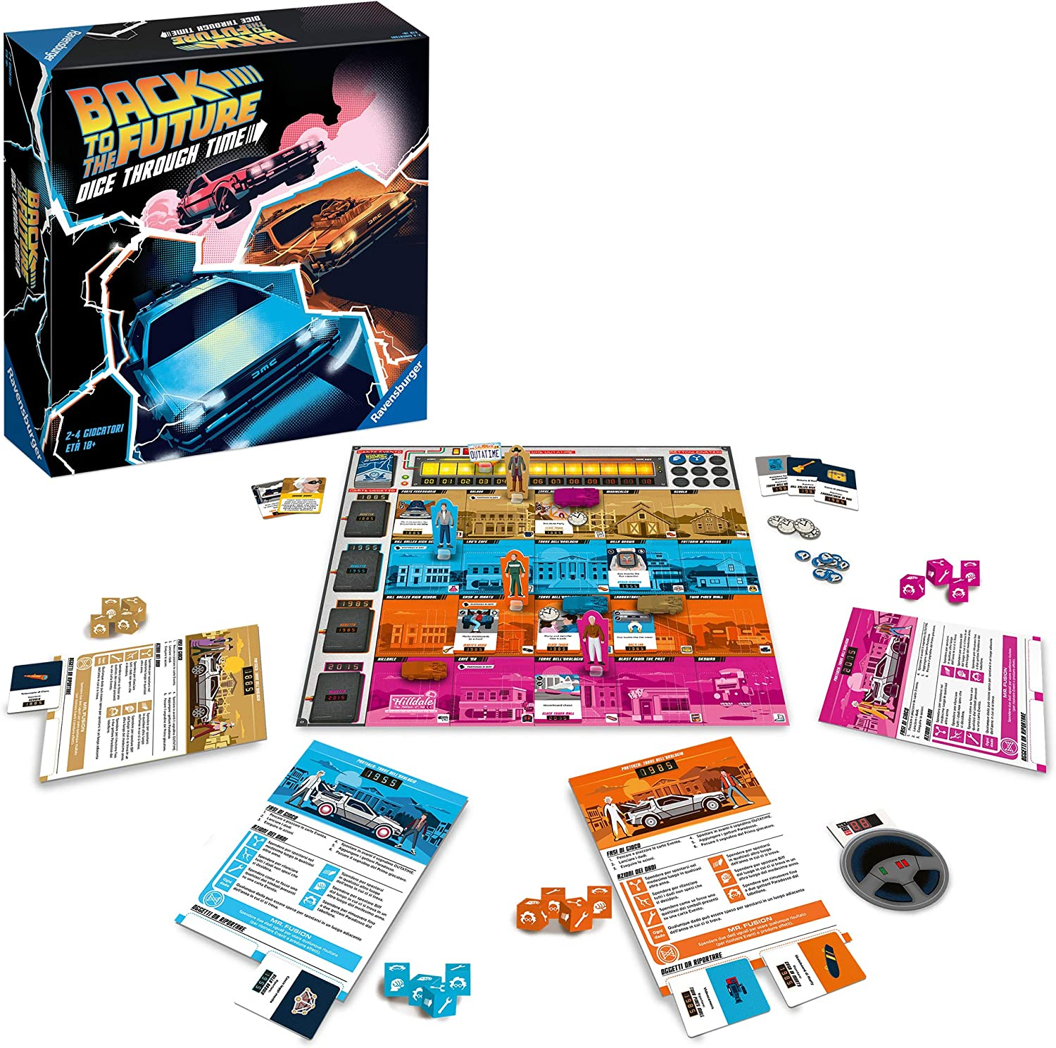 Back to the Future Dice Through Time is a family weight Back to the Future Board Game