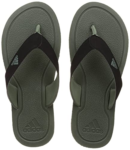 bbf92da2e923 Adidas Men s Stabile Tragrn and Cblack Flip-Flops and House Slippers - 10  UK