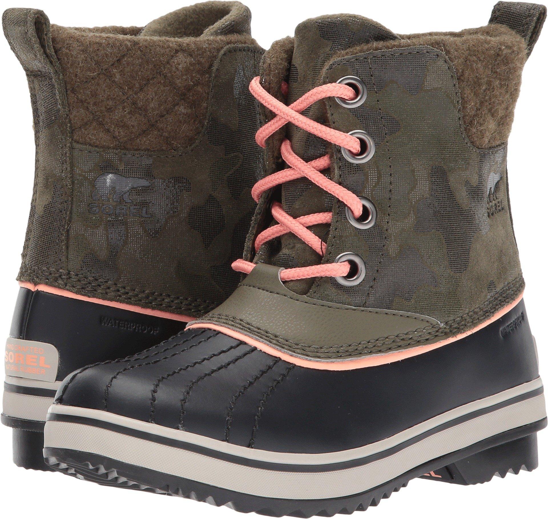 SOREL Slimpack II Lace Boot - Girls' Nori/Summer Peach, 7.0