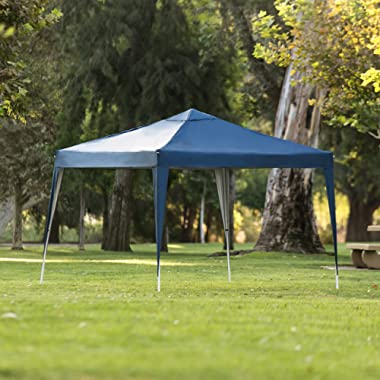 Best Choice Products 10x10ft Outdoor Portable Lightweight Folding Instant Pop Up Gazebo Canopy Shade Tent w/Adjustable Height, Wind Vent, Carrying Bag – Blue