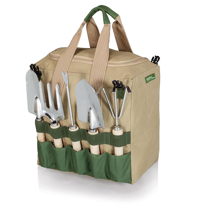 Amazon.com : Picnic Time U0027Gardeneru0027 5 Piece Garden Tool Set With Tote And  Folding Seat : Garden U0026 Outdoor