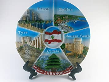 3D Lebanon Cities 7 inch Decorative Plate with Hanger u0026 Easel & Amazon.com: 3D Lebanon Cities 7 inch Decorative Plate with Hanger ...
