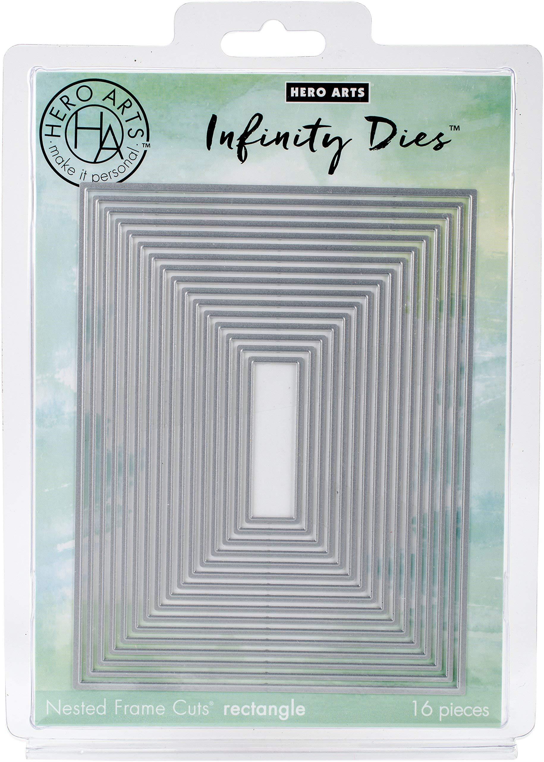 Hero Arts DI198 Card Making Cutting Dies, Infinity Die Cuts Set - Nesting Rectangle