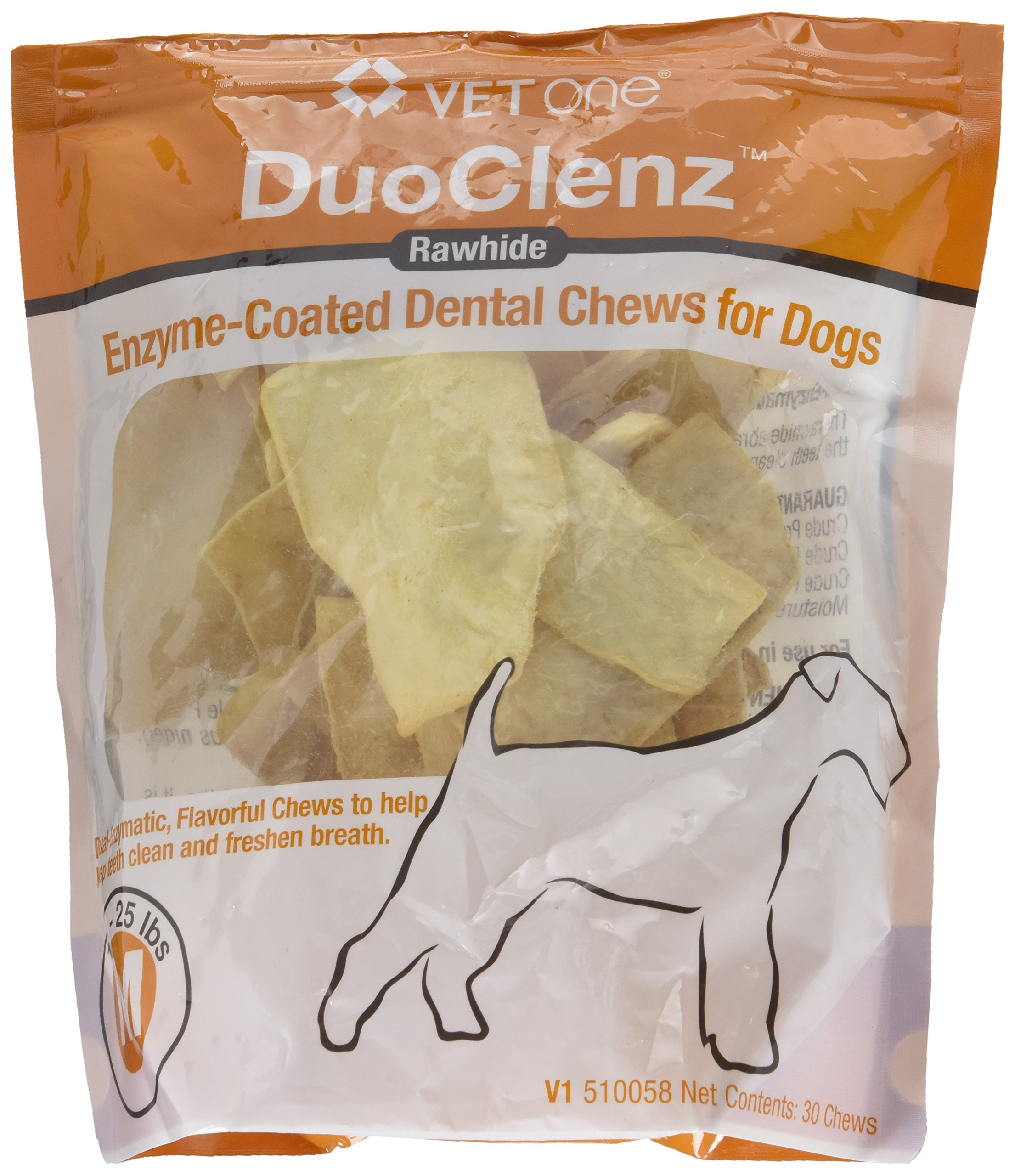 VetOne DuoClenz Enzyme Coated Dental Chews for Medium Size Dogs 30 Count by VET ONE