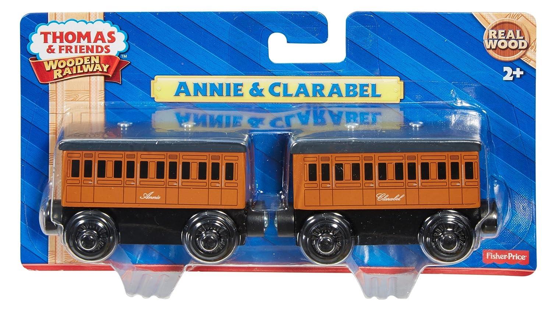 Thomas Friends Wooden Railway Annie And Clarabel Engine Set