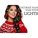 Beardaments Light Up Hair Lights - The Original Ornaments from, 16pc Colorful Christmas Hair Baubles for Holiday Cosplay Wome