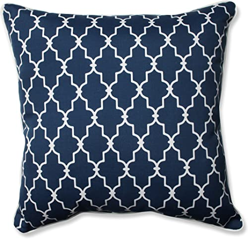 Pillow Perfect Outdoor Indoor Garden Gate Floor Pillow, 25 x 25 , Navy