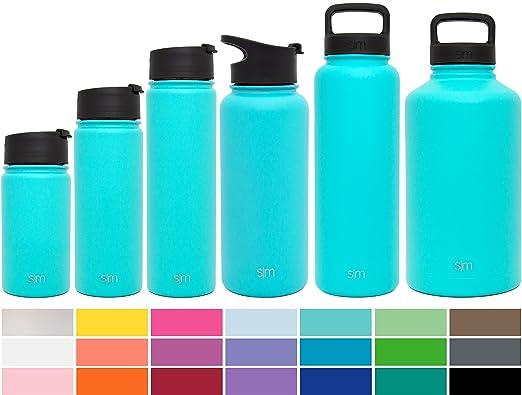 17 opinioni per Simple Modern Una bottiglia di acqua inossidabile 22once Caribbean Blue