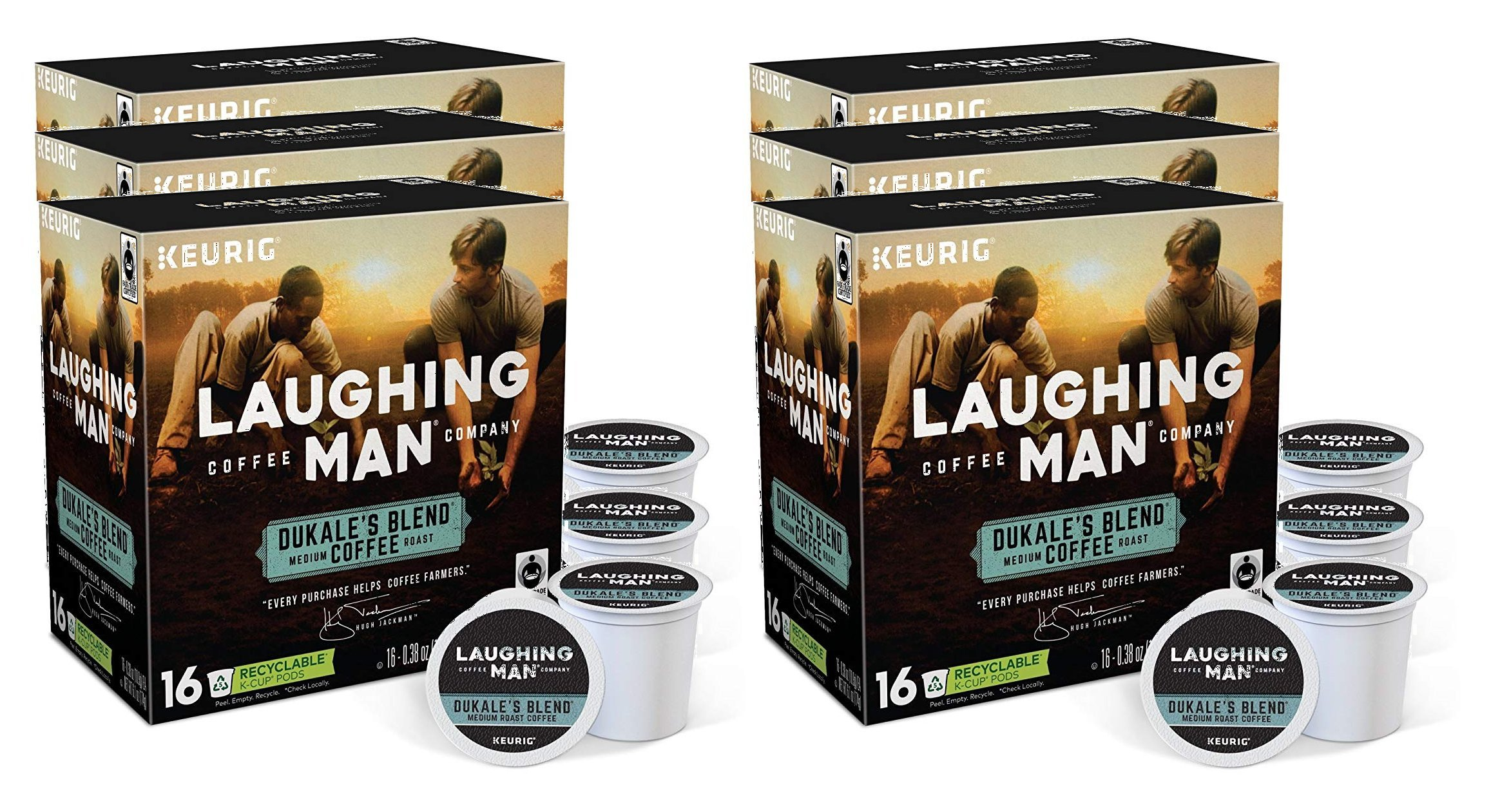 Laughing Man Dukale's Blend Coffee Keurig K-Cups, 96 Count by Laughing Man (Image #3)
