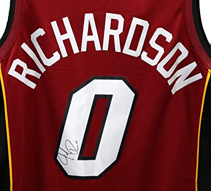 sports shoes fe857 42329 Josh Richardson Miami Heat Signed Autographed Red #0 Jersey ...