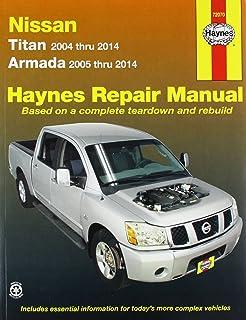 Amazon haynes chevrolet equinox 2005 thru 2009 and pontiac nissan titan 2004 thru 2014 and armada 2005 thru 2014 repair manual sciox Choice Image