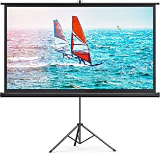 TaoTronics Projector Screen with Stand,Indoor Outdoor PVC Projection Screen 4K HD 100'' 16: 9 Wrinkle-Free Design(Easy to Clean, 1.1Gain, 160° Viewing Angle & Includes a Carry Bag) for Movie, Meeting