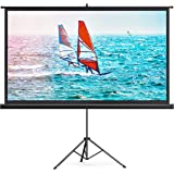 TaoTronics Projector Screen with Stand,Indoor Outdoor PVC Projection Screen 4K HD 100'' 16: 9 Wrinkle-Free Design(Easy to Cle