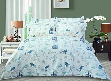 amazon com highland feather the bird duvet cover set queen home