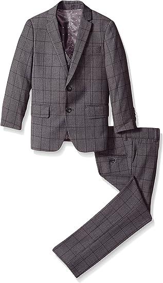 Isaac Mizrahi Boys 3-Piece Multi-Plaid Suit