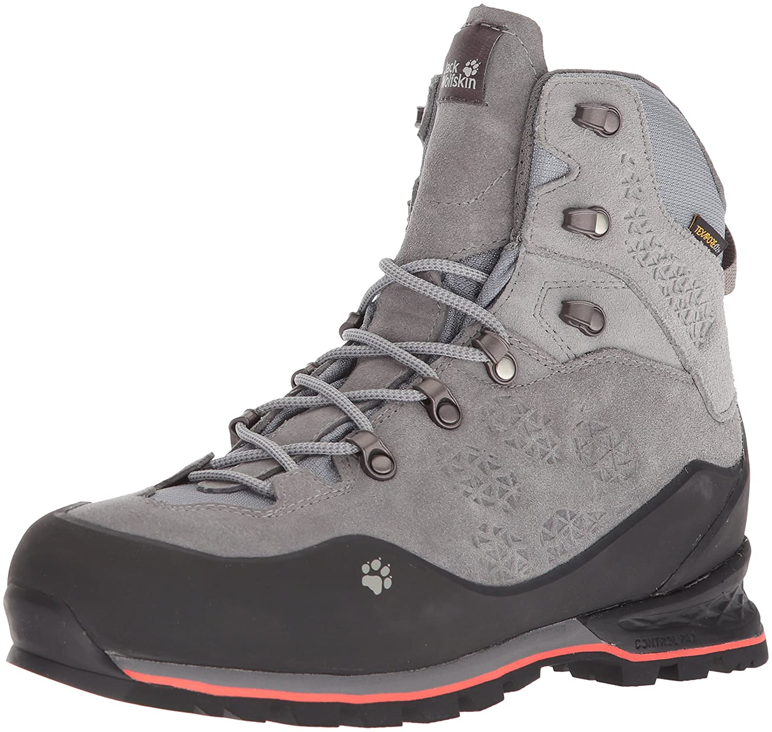 Jack Wolfskin Women's Wilderness Texapore Mid W Mountaineering Boot B0785HJMB6 US Women's 10 D US|Tarmac Grey